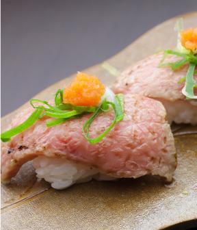 寿司 みず田の牛いちぼにぎり